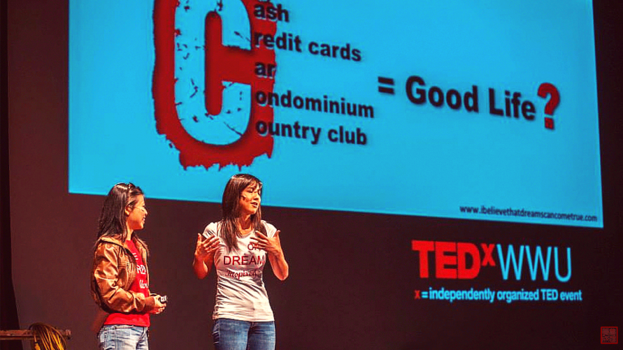 Tay and Val at TEDxWWU