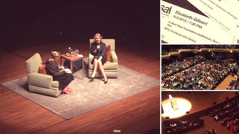 Elizabeth Gilbert at SAL on #BigMagic