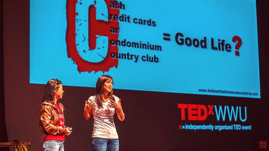Tay and Val at TEDxWWU